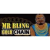 Mr T Gold Chain Pimp Bling Fancy Dress