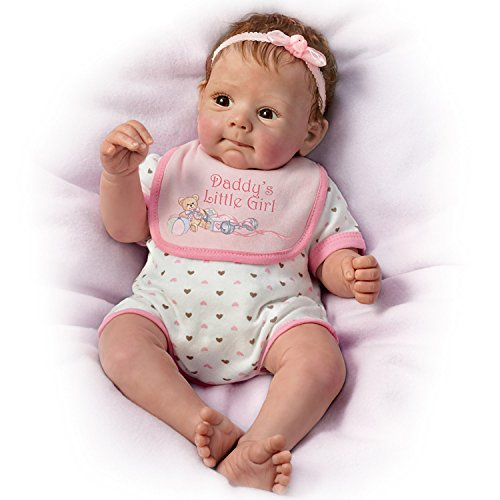 Daddy`s Little Girl So Truly Real Poseable, Weighted Baby Doll By Sherry Rawn by The Ashton-Drake Galleries