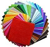 大容量 カラー フェルト 生地 セット 大判 30 × 30 cm 厚さ 1 mm 手芸 材料 手作り 40色セット