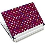 Luxburg® Design skin de protection sticker film autocollant pour ordinateur portable 10 / 12 / 13 / 14 / 15 pouces, motif: LX Modèle bordeaux