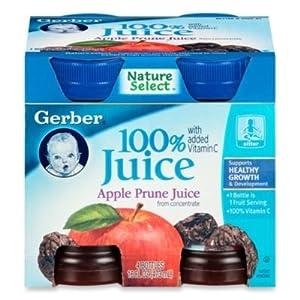 Amazon Com Gerber 100 4 Oz Apple Prune Juice From