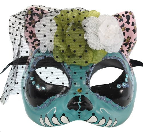 RedSkyTrader Women's Cat Day Of the Dead Mask