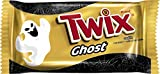 TWIX Halloween Caramel Singles Size Chocolate Cookie Bar Candy Ghosts 1.06-Ounce Bar 24-Count Box