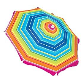 SPF 100 Plus 6 Ft. Beach Umbrella with Tilt