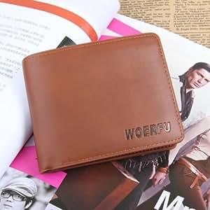 NEOU Portefeuille de brun de style sac à main pour hommes