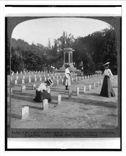 Stereoview (L): Fallen of the mighty conflict--graves of Confederate soldiers Charleston S. Carolin