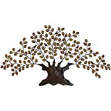 Deco 79 Metal Decor, Tree 75-Inch by 41-Inch