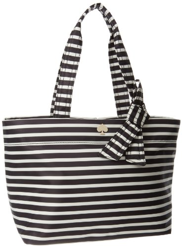 Kate Spade New York Flatiron Nylon-Sophia Grace Shoulder Bag,Black/Cream,One Size front-1055186