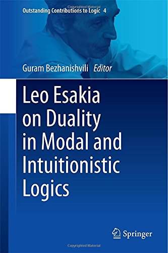 Leo Esakia On Duality In Modal And Intuitionistic Logics (Outstanding Contributions To Logic)