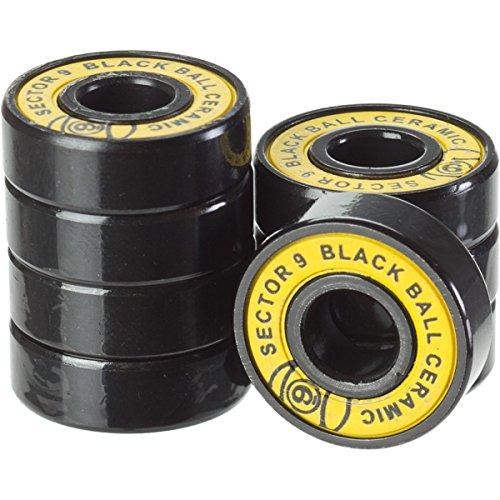 sector-9-ceramique-race-roulement-a-bille-noir-avec-croisillons-lot-de-8