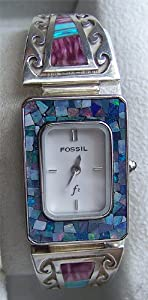 Fossil Ladies Mosaic Abalone Watch on Native American Watch band