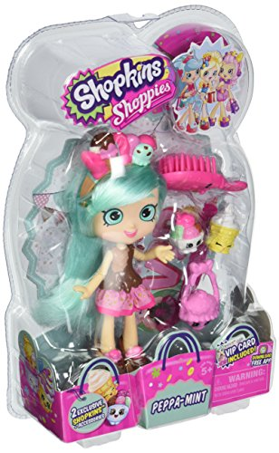 Peppa-Mint Shopkins Shoppies Doll with two exclusive Shopkins
