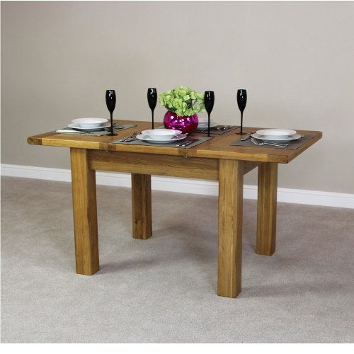 rustic oak small 4 6 seater extending dining table