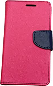 Novo Style Fancy Diary Wallet Flip Cover For Samsung Galaxy J1 - Pink