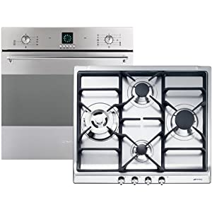 Smeg sc99x 8 gt1t sdr60xg3 set einbau backofen gas for Backofen gas