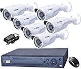 Puffin 8-CH HDCVI Dvr (With 6 HD 1080P Night Vision Bullet Cameras)