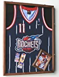 NBA Basketballl Jersey Display Case Cabinet Shadow Box, Black Finished