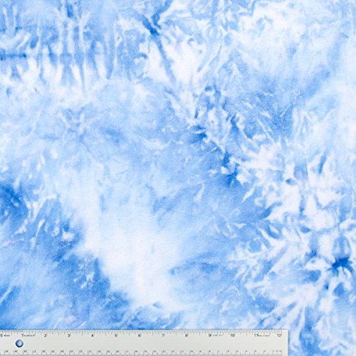 Light Blue Tie Dye Soft Minky Fabric Sold By The Yard front-797474