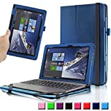ASUS Transformer Book T100HA Case, Infiland Premium PU Leather Keyboard Portfolio Stand Cover Case For ASUS Transformer Book T100HA 10.1