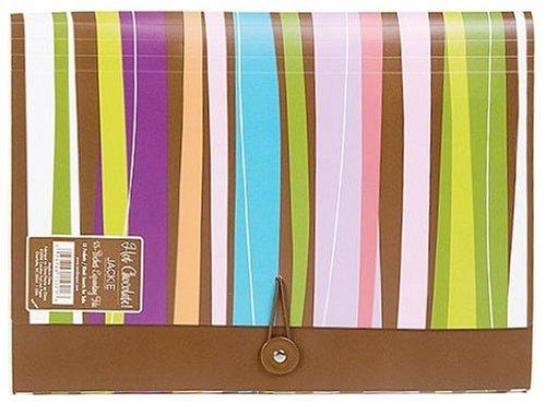 Carolina Pad Hot Chocolate 13-Pocket Accordion Folder Pick-Up-Sticks Design, 12.88 x 9.25 x 1.38 Inches (15021)