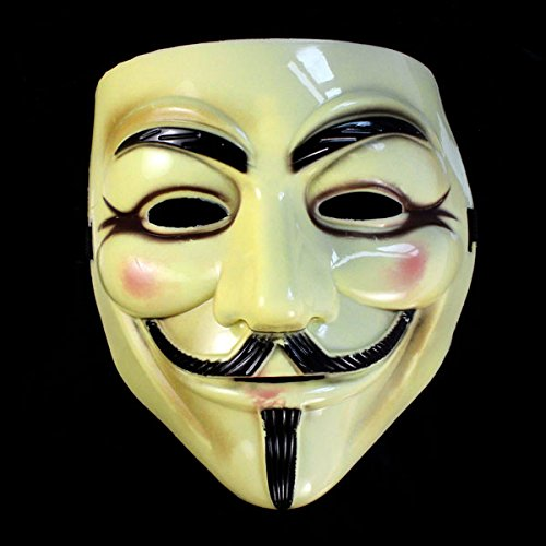 Baomabao Cool Halloween Masquerade Face Mask V For Vendetta Guy Fawkes Fancy Dress Party