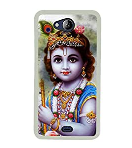 Krishna 2D Hard Polycarbonate Designer Back Case Cover for Micromax Canvas Play Q355