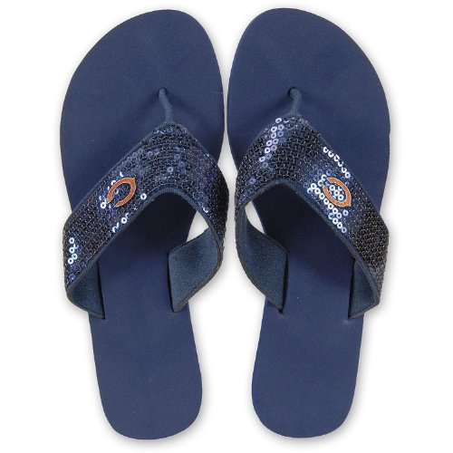 8af4e92f3 Chicago Bears Ladies Sequins Flip Flops