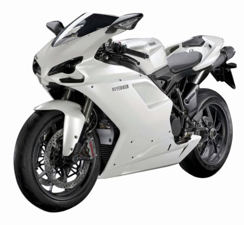 Ducati 1198 Diecast Motorcycle 1:12 Scale - White