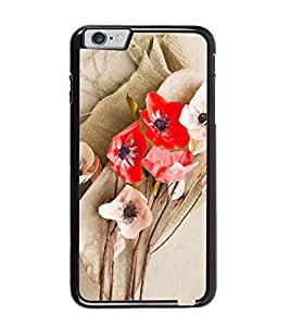Fuson Premium Floral Art Metal Printed with Hard Plastic Back Case Cover for Apple iPhone 6