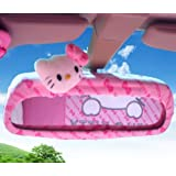 Hello Kitty Car Rearview Mirror Cover (Butterfly Pattern) Delivery Time 7-12 Business Days