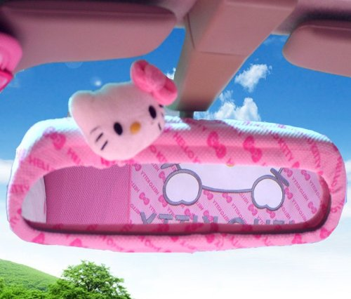 Hello-Kitty-Car-Rearview-Mirror-Cover-Butterfly-Pattern-Delivery-Time-7-12-Business-Days