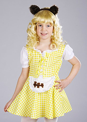 [Childrens Goldilocks Costume with Bear Ears Large 8-10 years] (Goldilocks And Bear Costumes)