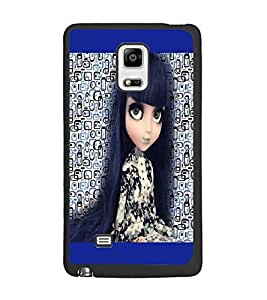 PrintDhaba Long Hair Doll D-5044 Back Case Cover for SAMSUNG GALAXY NOTE EDGE (Multi-Coloured)
