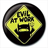 David and Goliath - Badges Evil At Work (in 2,5 cm)