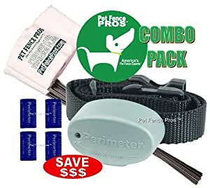 Pet Fence Pros New Dog Combo Pack for Invisible Fence Brand Dog Fence Systems| Invisible Fence System Frequency| 7k - Progressive(starts low and goes up)