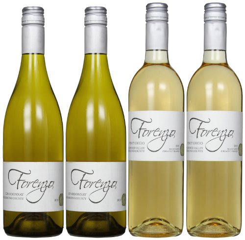 Forenzo Vineyards Redwood Valley'S Best Whites Mixed Pack, 4 X 750 Ml
