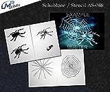 UMR-Design AS-046 Spinne Airbrushschablone Step by Step Grösse M