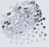 Silver Hearts Confetti / Christmas, New Year, St. Velentine's Day Party Decorations