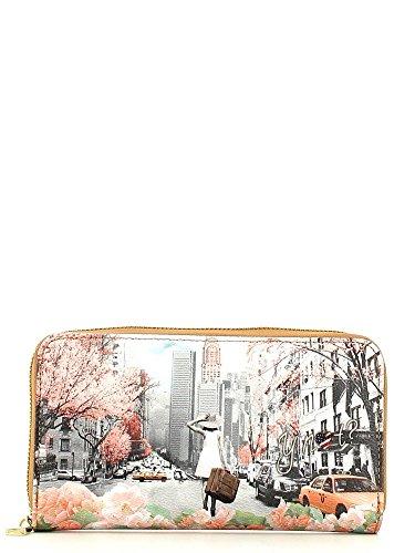 Portafoglio donna con Zip Y Not stampa Spring in New York - F361