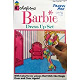 Colorforms BARBIE Dress Up Set Travel Pak (1989)