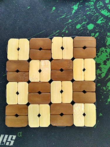 Aiber 2 Pieces Bamboo Plate Dish Cup Bowl Hot Pad Pot Square Mat Coasters Tableware Holder Color Random 5 inch (Bamboo Hot Plate compare prices)