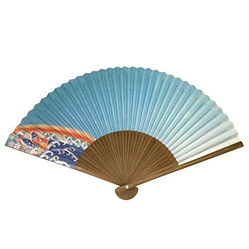 Japanese folding fan / NIJIZORA / 8.9inch 35spaces Single-side printing / With premium fan box (Sensu Folding Fan compare prices)