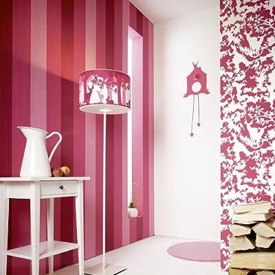 Faux Striped Wood Effect Wallpaper In Pink