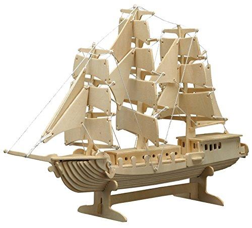 Peter-Bausch-869-Holzbausatz-Segelschiff-80-teilig