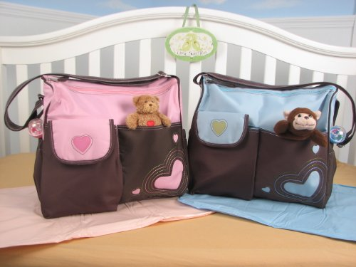 Soho Pink / Blue And Brown With Changing Pad 2 Pcs Set (Blue) front-494900