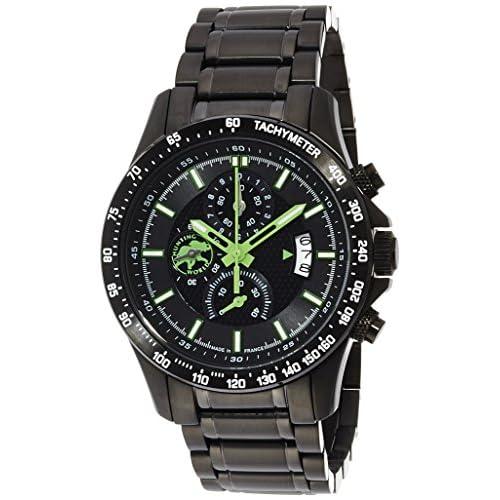 [ハンティングワールド]Huntingworld 腕時計 レーサーキング ブラック文字盤 BKIP クォーツ メンズ HW403GR メンズ 【正規輸入品】