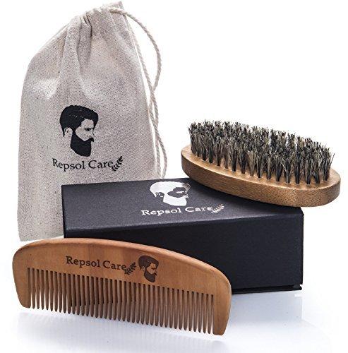 beard-brush-beard-comb-kit-handmade-organic-solid-wood-no-snag-anti-static-100-natural-boar-bristle-
