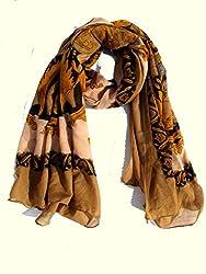 lotusa king style printed casual scarf