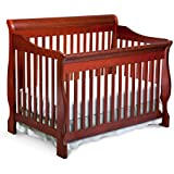 Delta Children Canton 4-in-1 Convertible Crib, Dark Cherry