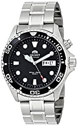 """Orient Men's EM65008B """"Ray"""" Stainless Steel Automatic Watch"""